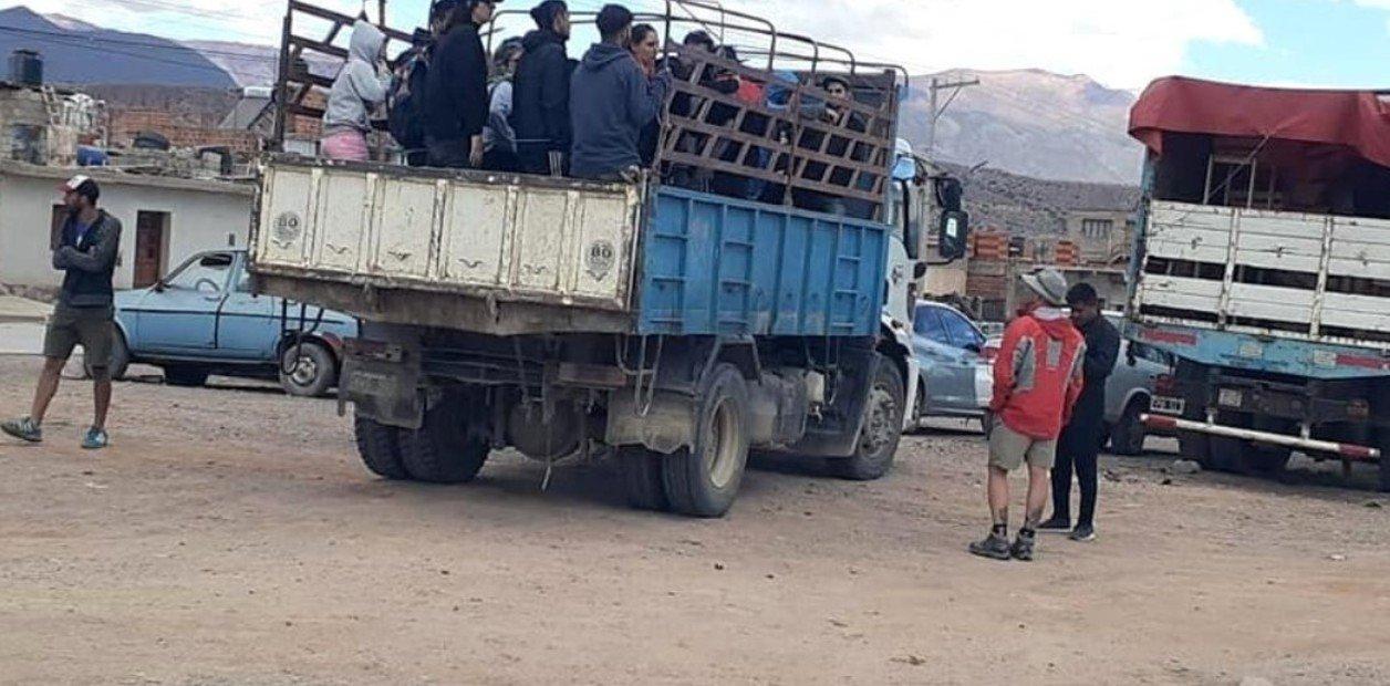 Sacaron a turistas de Iruya a Humahuaca