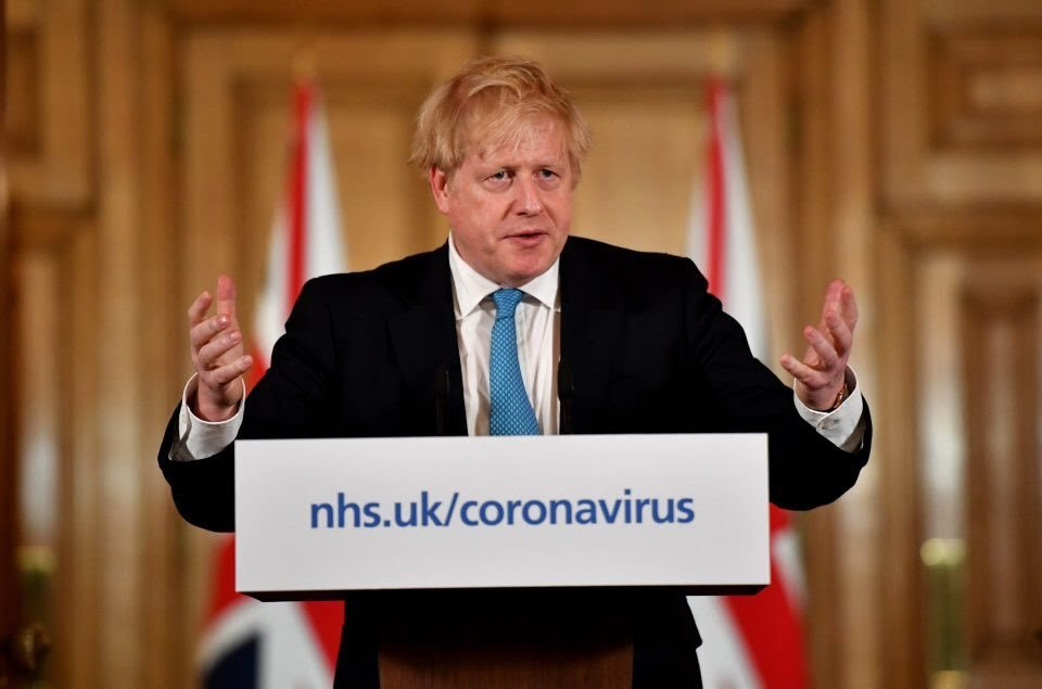 El primer ministro de Reino Unido, Boris Johnson, está internado con coronavirus.