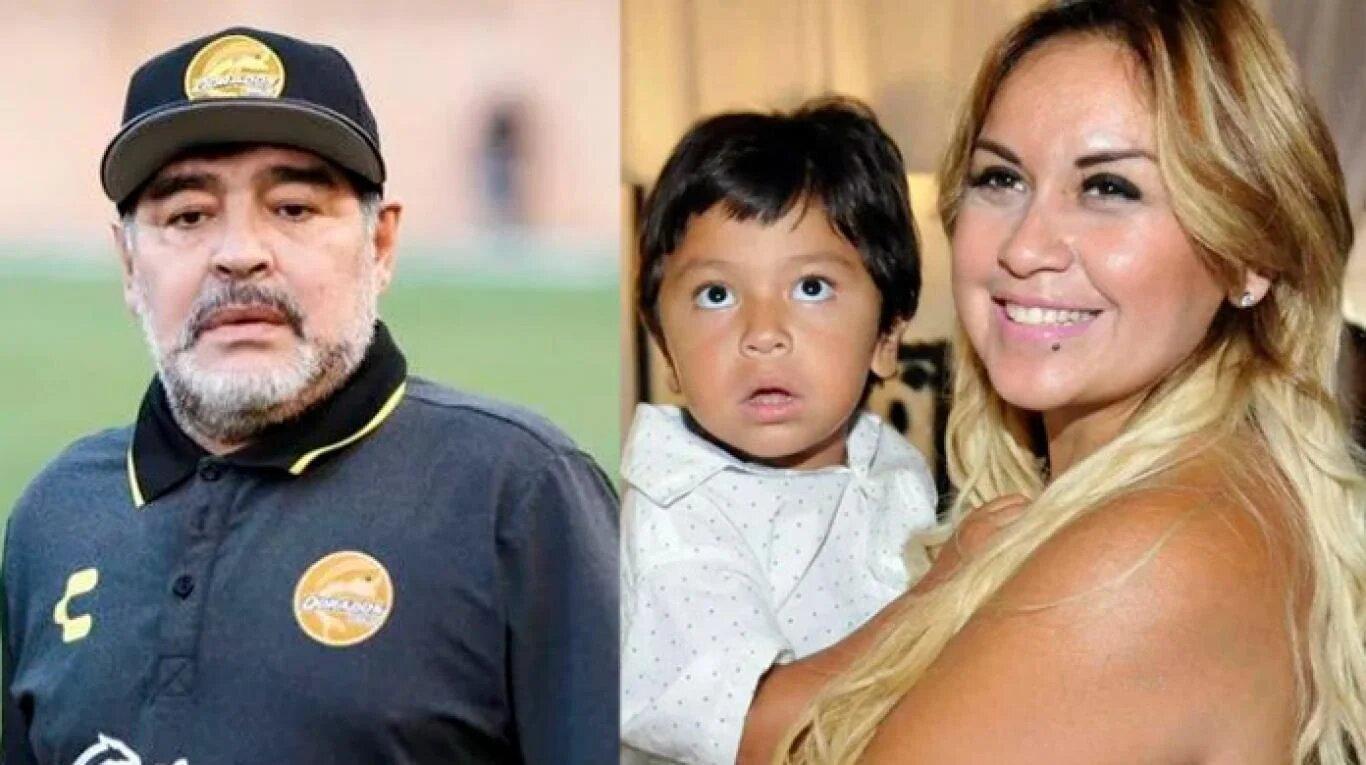 Diego Maradona y Verónica Ojeda