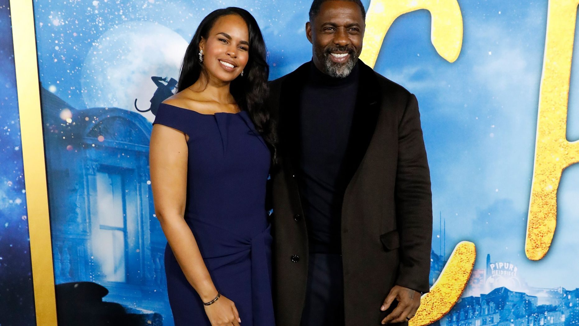 Idris Elba y su esposa