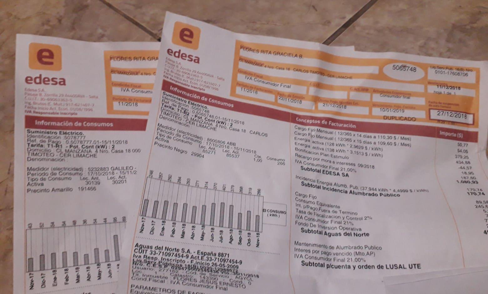 aumento de la tarifa de luz en Salta