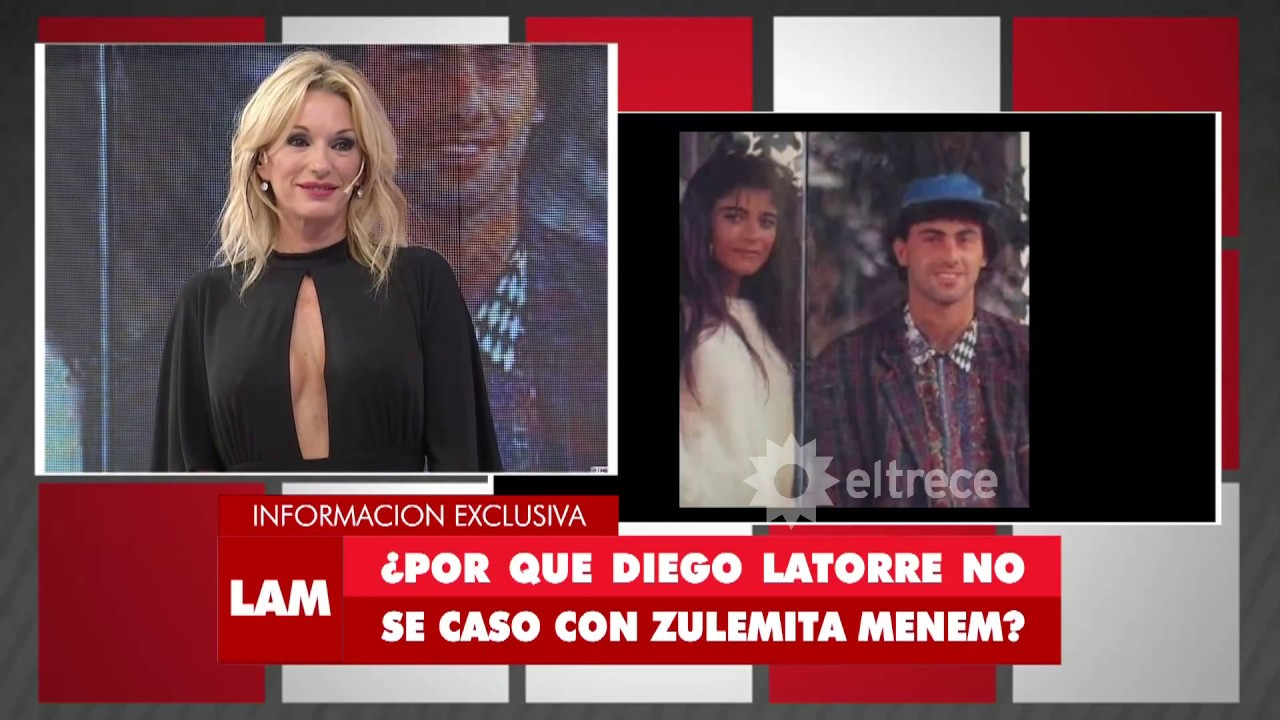 Diego Latorre y Zulemita Menem