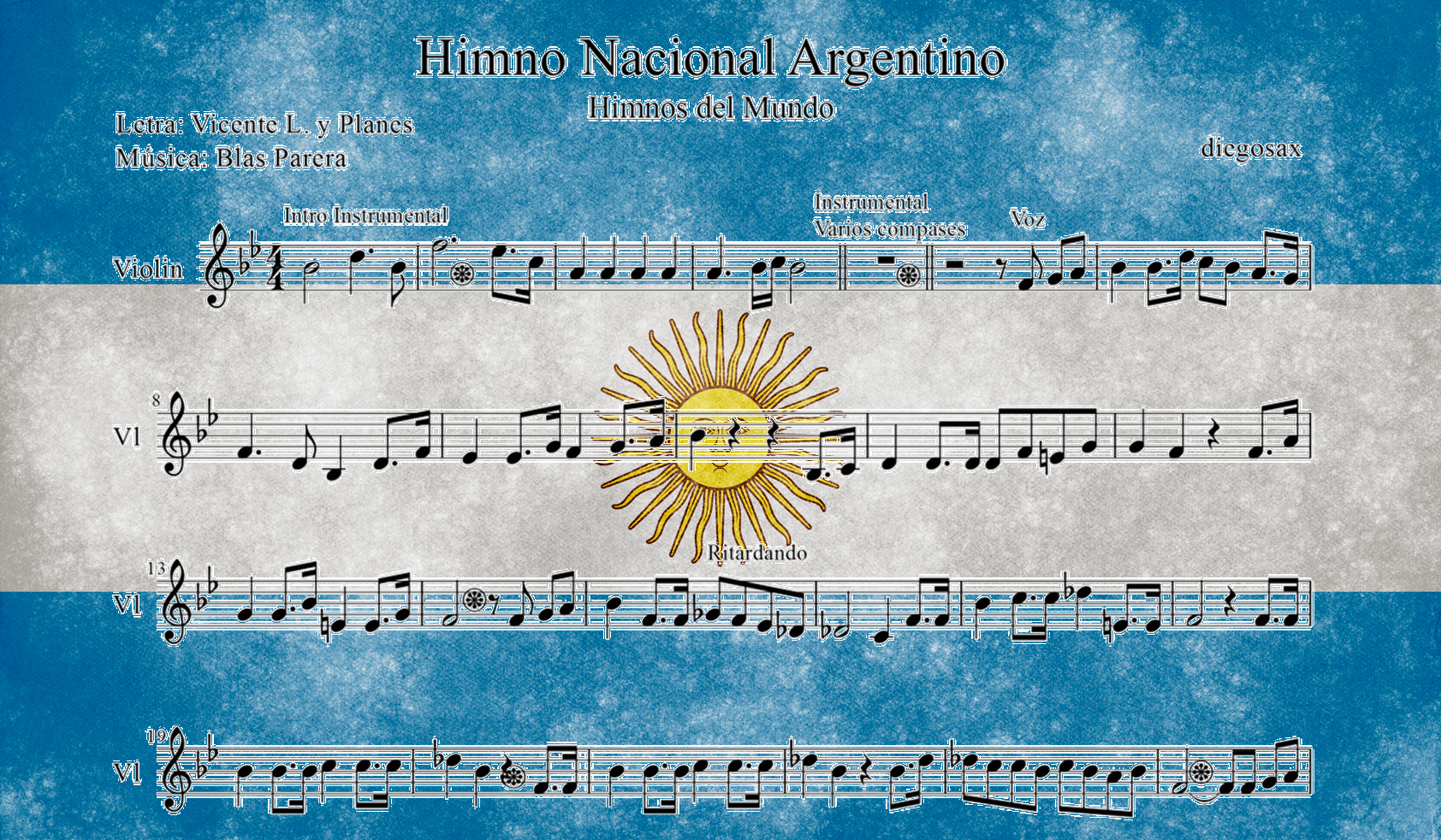 Bandera Argentina - Himno nacional argentino