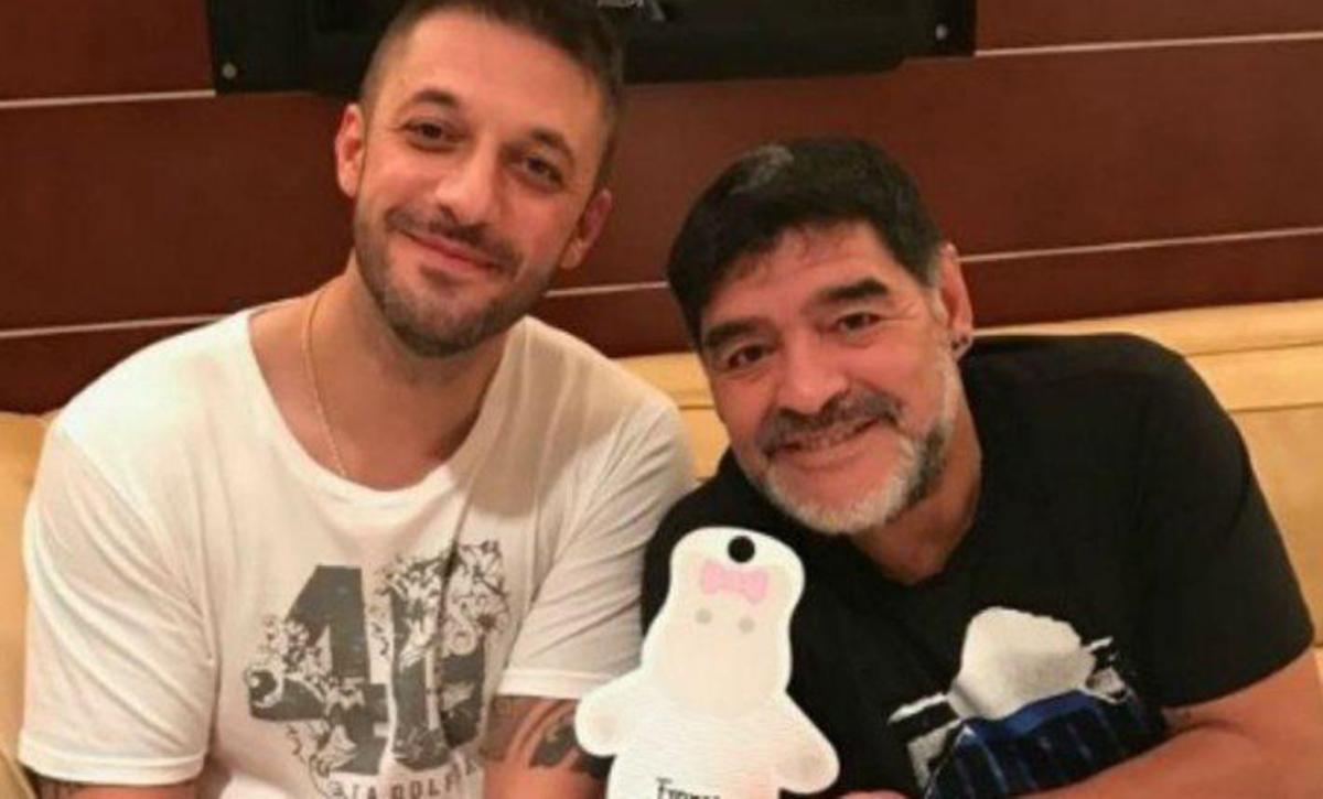Matías Morla y Diego Maradona