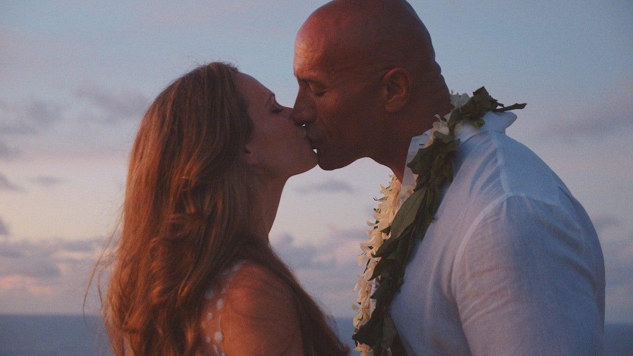 Dwayne Johnson y su esposa
