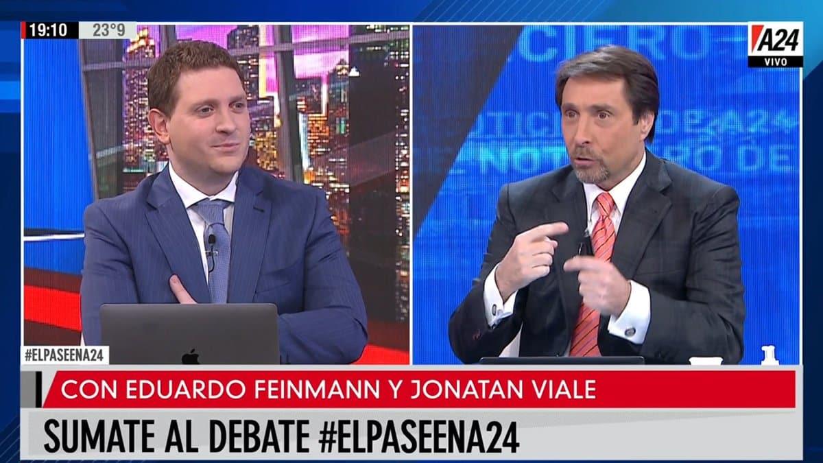 Jonatan Viale y Eduardo Feinmann