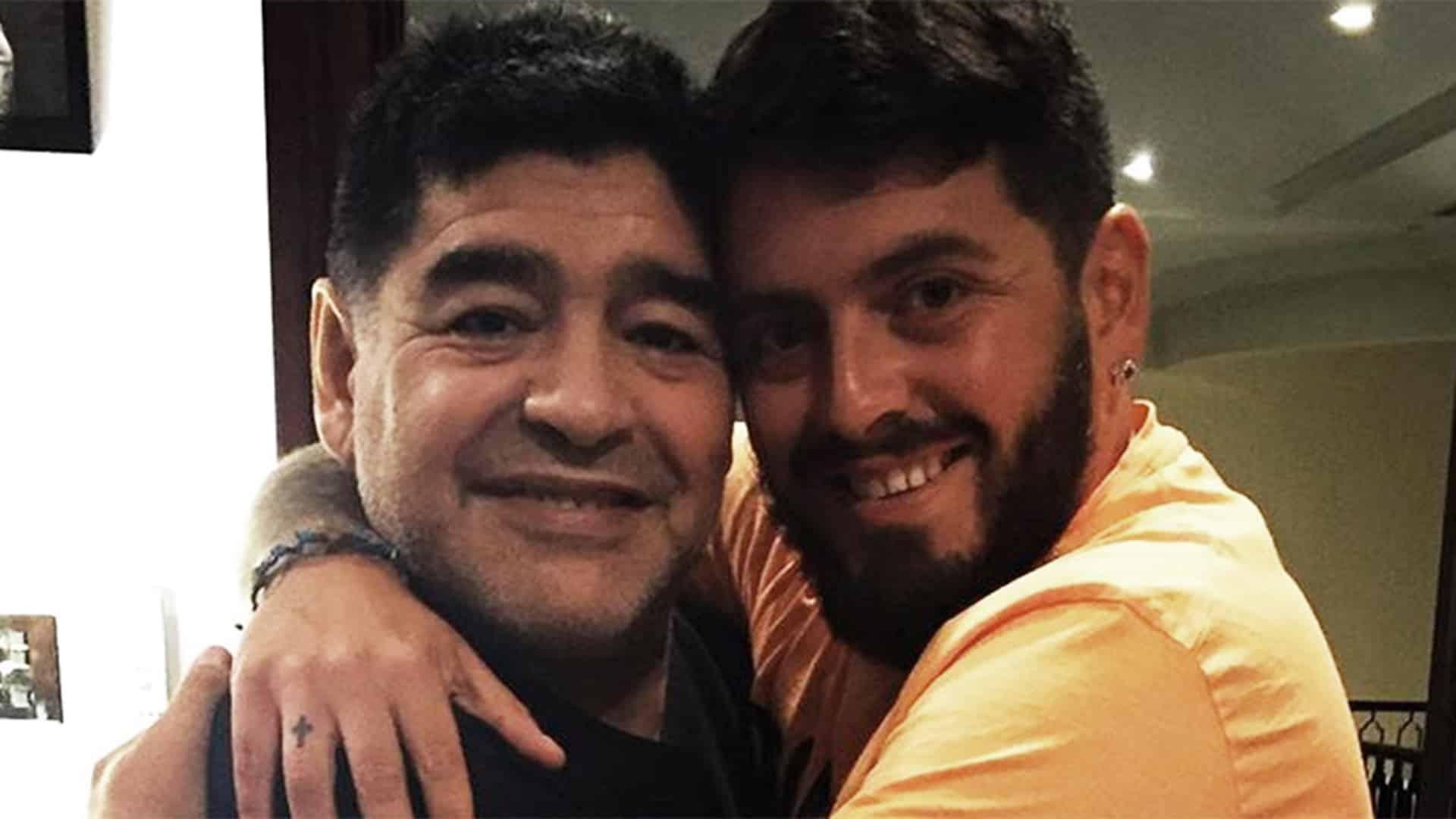 DIego Maradona y Diego Maradona Junior