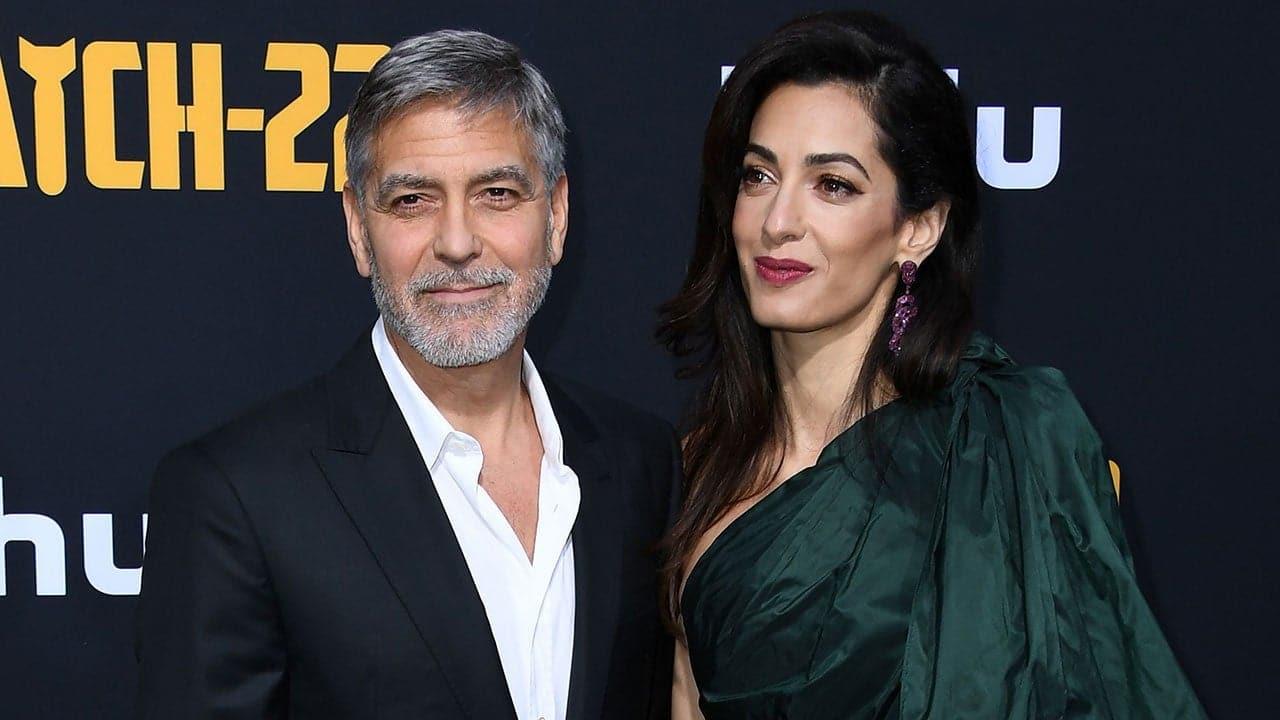 George Clooney y su esposa