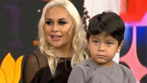 Verónica Ojeda y Dieguito Fernando