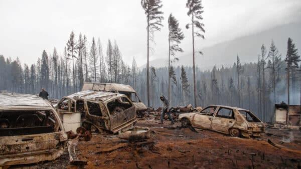 Incendio en la Patagonia